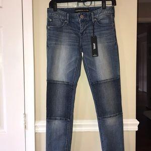 Express Jeans - Express Stella Knee Patch Legging Jean Sz 0